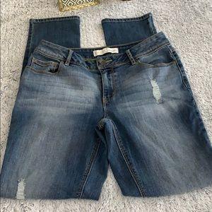 C Est 1946 Denim 6 distressed straight leg jeans